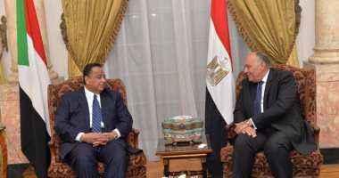 بدء المباحثات الثنائية بين وزيرى خارجية مصر والسودان قبيل الاجتماع الرباعي بمشاركة رئيسي المخابرات