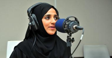 """""""لولوه العبد الله"""" أول مذيعة كفيفة تقدم برنامجا إذاعيا فى السعودية"""