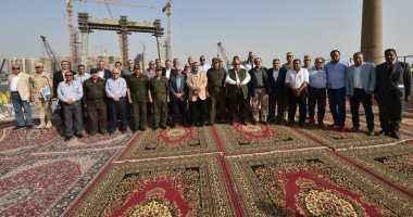 """اللواء كامل الوزير يتفقد أعمال محور روض الفرج ويوجه الشكر لشركة """"المقاولون العرب"""""""