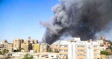 حريق هائل فى المحطة العالمية لسكك الحديد وسط العاصمة بغداد