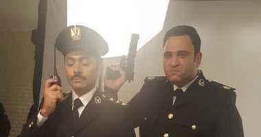 """تامر حسنى وأبو حفيظة ضباط فى فيلم """"البدلة"""""""
