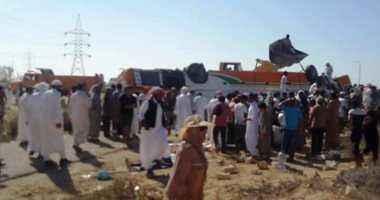 ارتفاع عدد ضحايا أتوبيس المصطافين بطريق مطروح لـ6 وفيات وإصابة 27