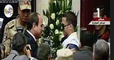 السيسى يكرم اثنين من قادة حرب أكتوبر وأحد مصابى العمليات فى سيناء