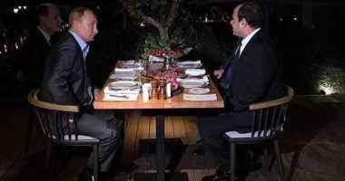 الرئيس السيسي: سعادتي بالغة بلقاء صديقي الزعيم الروسي