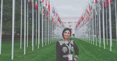"""طالبة بـ""""بيطرى بنها"""" تمثل أفريقيا أمام السكرتير العام للأمم المتحدة بجنيف"""