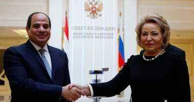 الرئيس السيسى خلال لقائه برئيسة الفيدرالية الروسية: روسيا لن تجد من مصر إلا كل خير، مثلما تجد روسيا كل الخير من مصر