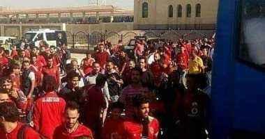 وصول قطار جماهير الأهلى للاسكندرية لحضور مباراة الترجى