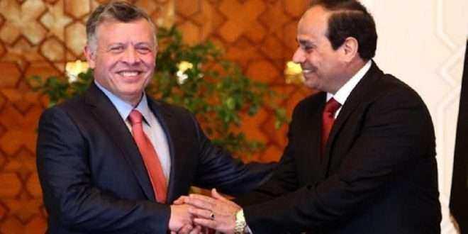 الرئيس السيسي وملك الأردن يتوافقان على تعزيز العلاقات الاقتصادية وزيادة التبادل التجاري