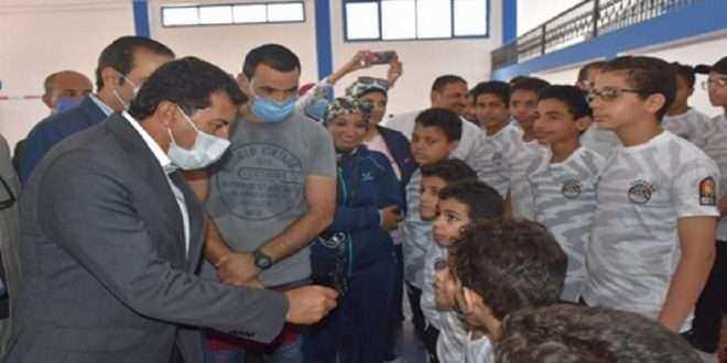 وزير الرياضة ومحافظ بورسعيد يتفقدان نادي الحرية للمعاقين